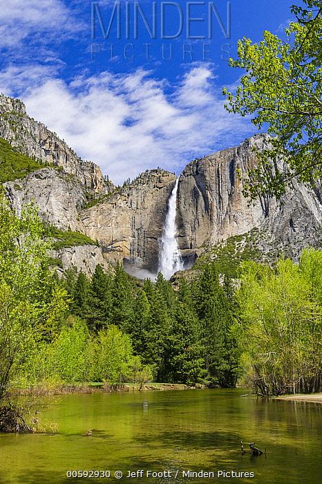 Yosemite Falls and Merced River, Yosemite National Park, California