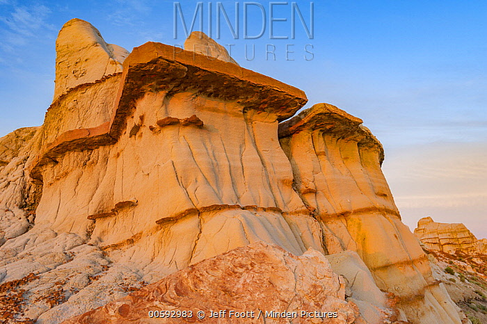 Sandstone rock formations, Theodore Roosevelt National Park, North Dakota