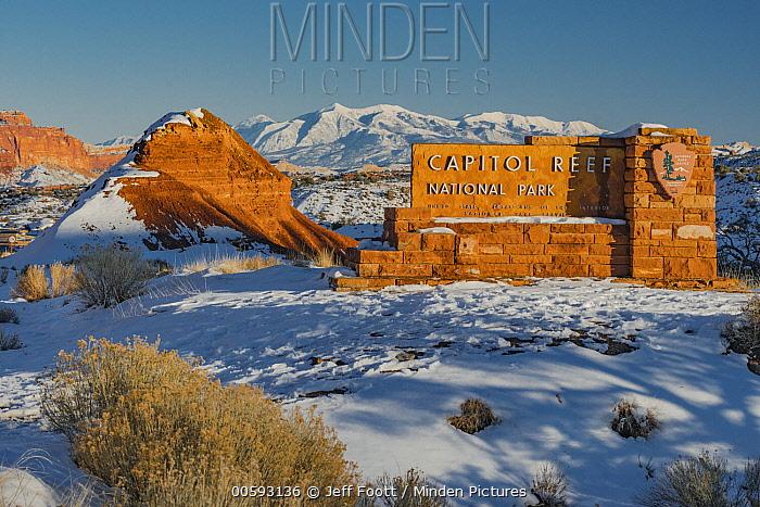 Entrance sign, Capitol Reef National Park, Utah