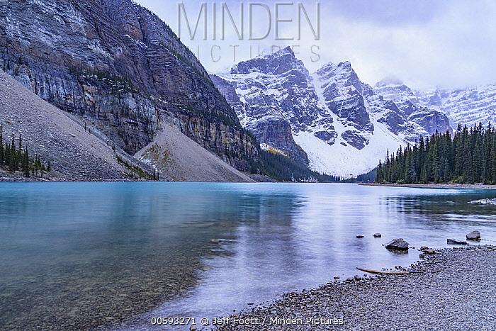 Morine Lake and Mount Bowlen, Banff National Park, Alberta, Canada