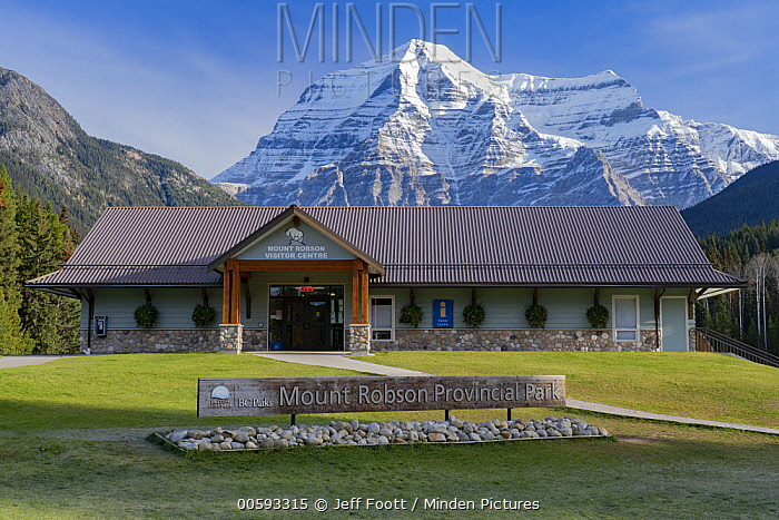 Visitor center, Mount Robson, Mount Robson Provincial Park, British Columbia, Canada