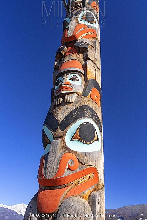 Two Brothers Totem Pole, Jasper National Park, Alberta, Canada