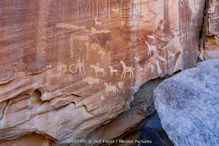 Petroglyphs, Capitol Reef National Park, Utah