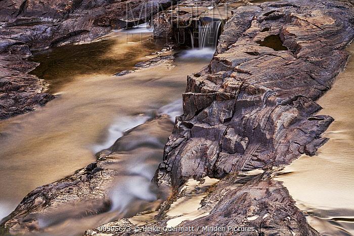 Waterfall, Skoltefossen, Neiden, Finnmark, Norway