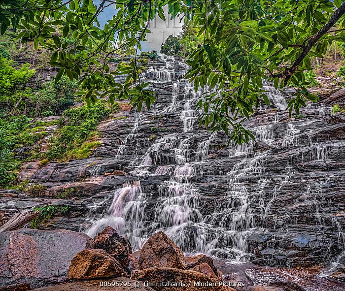 Mae Ya Waterfall cascading 260 meters, Doi Inthanon National Park, Thailand