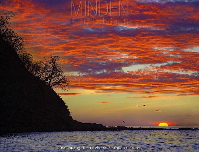 Sunset over ocean, Samara Beach, Costa Rica