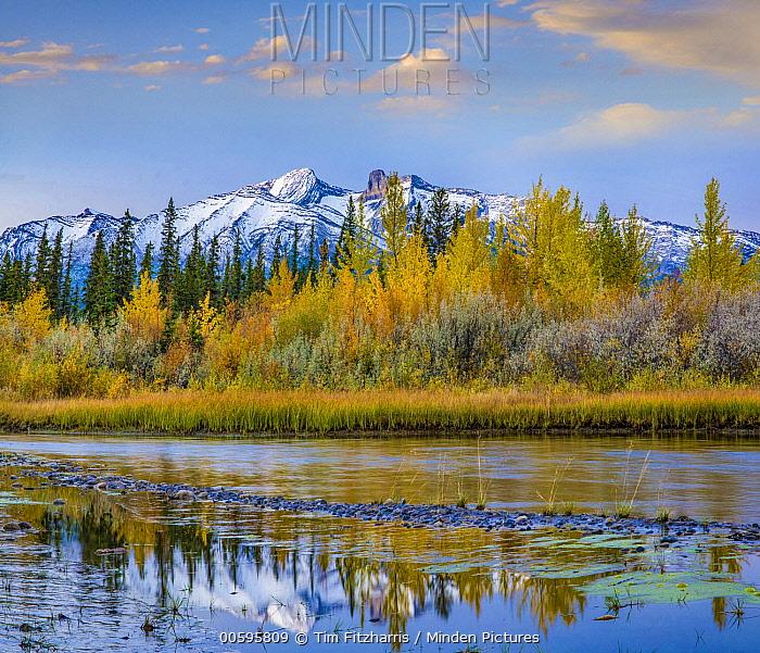 Cinquefoil Mountain, Athabasca River, Jasper National Park, Alberta, Canada