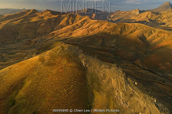 Deforested hillsides, Tsaranoro Valley, Madagascar