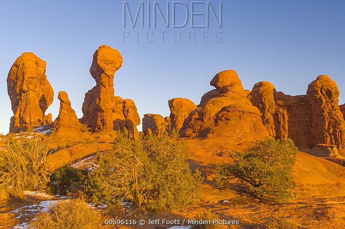 Sandstone formations, Garden of Eden, Arches National Park, Utah