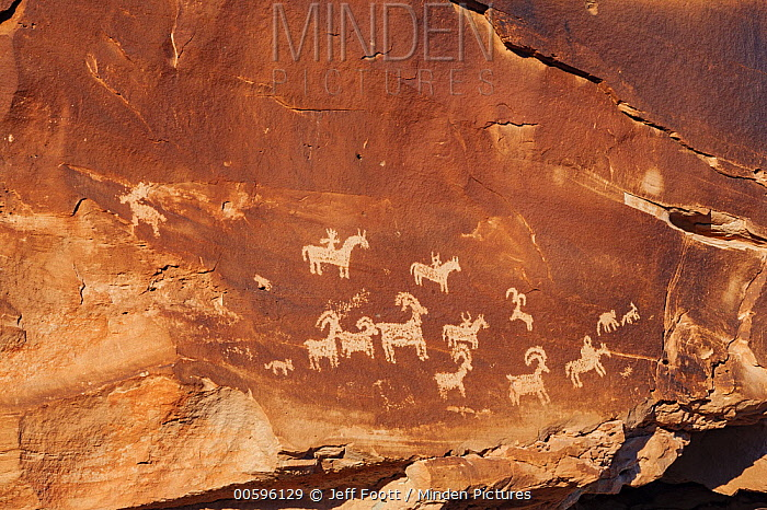 Ute ock art, Arches National Park, Utah