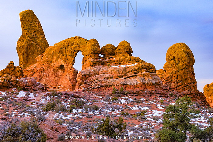 Turret Arch formation, Arches National Park, Utah
