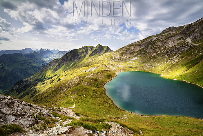 Alpine lake, Alps, Hinterstein, Bavaria, Germany