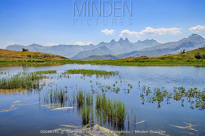 Lake and mountains, Guichard Lake, Alps, France