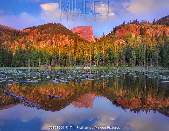 Hallett Peak, Nymph Lake, Rocky Mountain National Park, Colorado