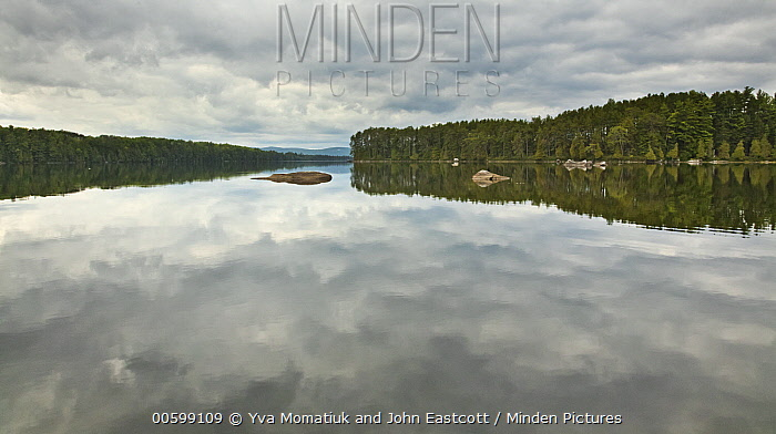 Lake in autumn, Maine