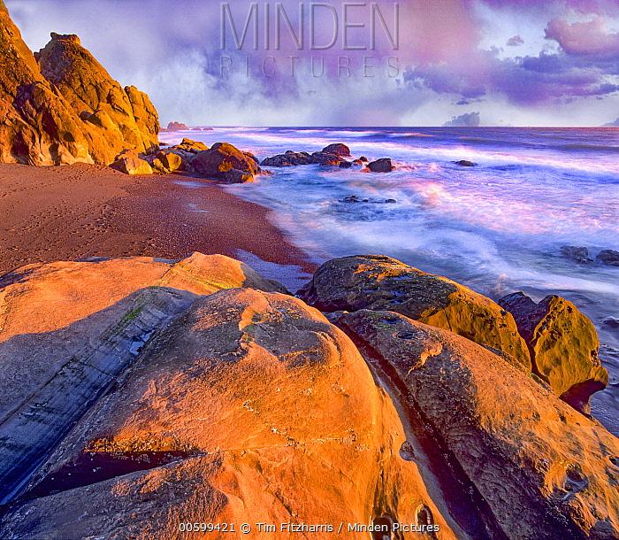 Coast at sunset, Beach Four, Olympic National Park, Washington