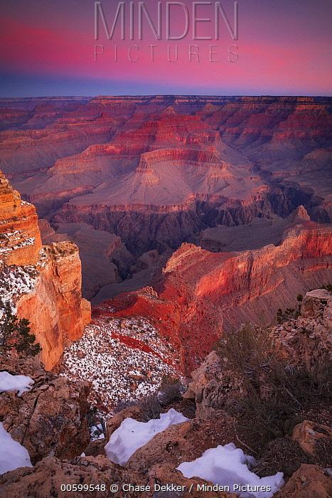 Sunset over Grand Canyon, South Rim, Grand Canyon National Park, Arizona