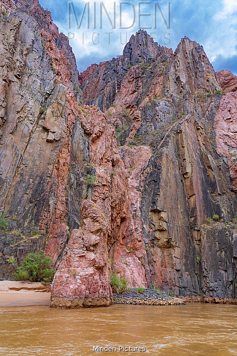 Schist with granite, Colorado River, Grand Canyon National Park, Arizona