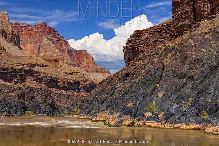 Schist and limestone, Colorado River, Grand Canyon National Park, Arizona
