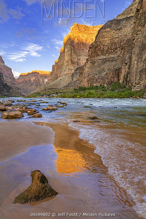 Reflections in river, Lava Rapids, Colorado River, Grand Canyon National Park, Arizona
