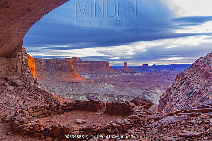 Indigenous ruins, False Kiva, Canyonlands National Park, Utah