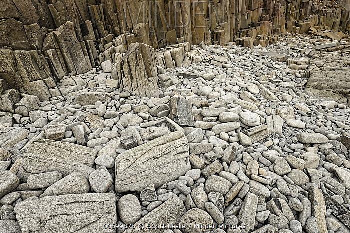 Eroding basalt shoreline, Brier Island, Nova Scotia, Canada