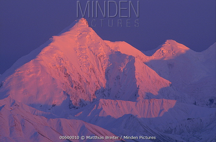 Alpenglow on Mt Brooks, Denali National Park and Preserve, Alaska  -  Matthias Breiter