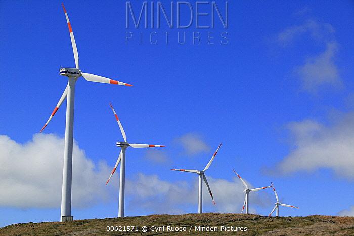 Windmills on the Paul da Serra Plateau, Madeira  -  Cyril Ruoso
