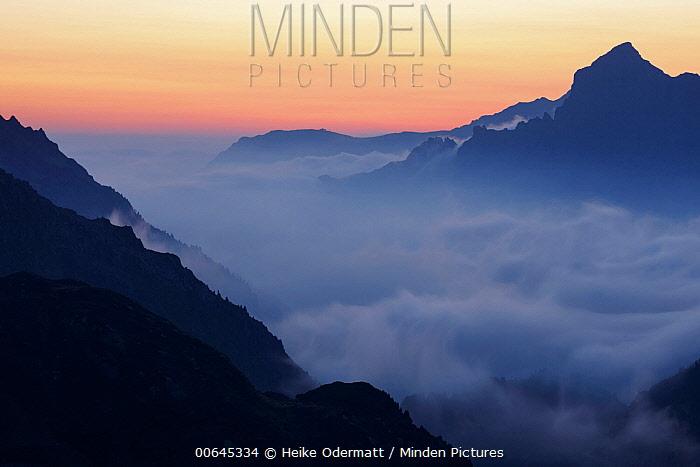 Mountains at sunset, Susten Pass, Switzerland