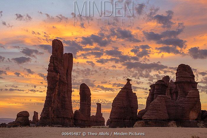 Rock formations, Sahara, Chad