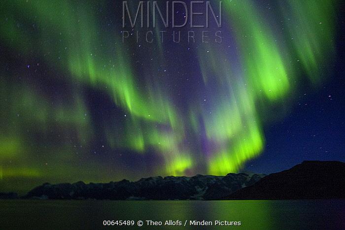 Northern lights, Scoresby Sund, Greenland