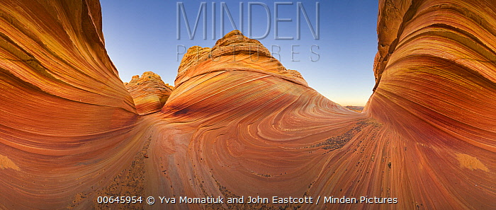 Sandstone rock formations, Coyote Buttes, Paria Canyon, Arizona, 360 view