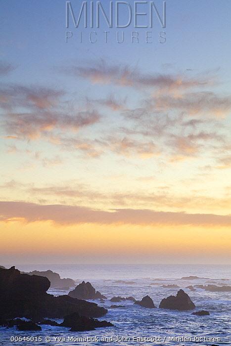 Coast at sunset, California