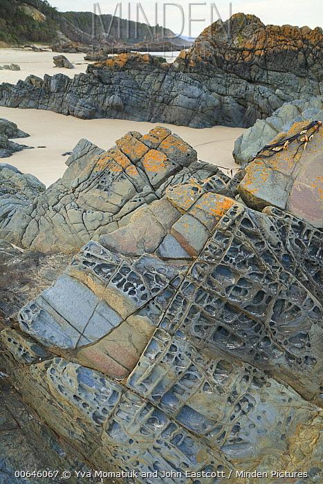 Sedimentary rock formations at Quarry Beach, Mallacoota, Victoria, Australia