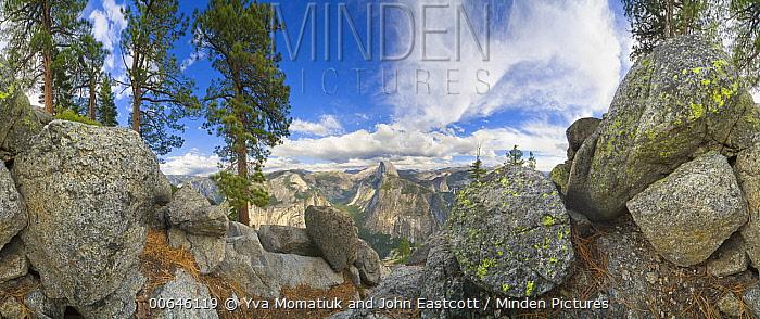 Granite rocks and Half Dome, 360 view, Yosemite National Park, California