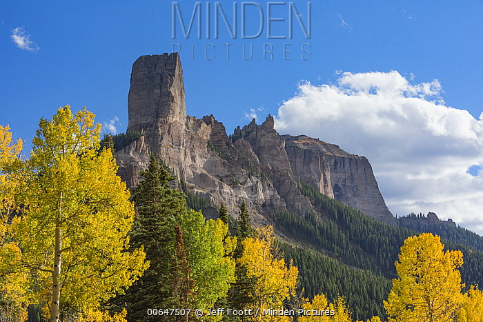 Chimney Rock and Courthouse Mountain, Uncompahgre National Forest, Colorado