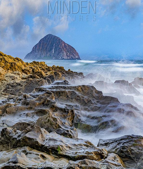 Crashing waves, Morro Bay, Big Sur, California