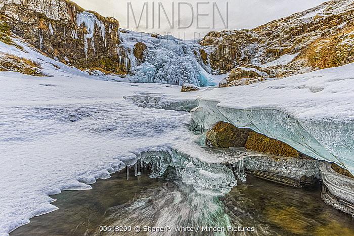 Frozen river, Grundarfjordur, Iceland