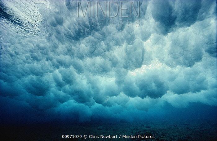 Underwater view of breaking waves, Papua New Guinea  -  Chris Newbert