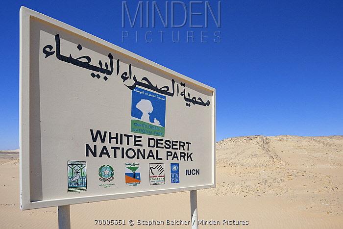 Signpost, White Desert National Park, Libyan Desert, Egypt  -  Stephen Belcher