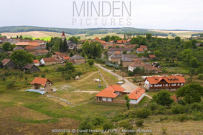 The hungarian village of Aggetelek  -  David Hosking/ FLPA