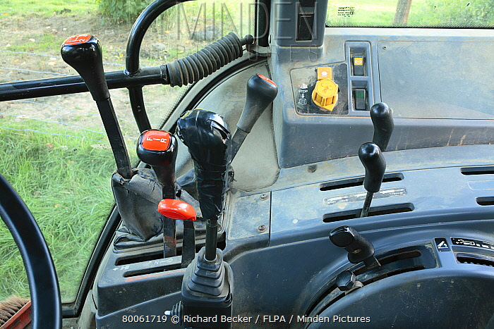 Ford 4000 Tractor Controls : Minden pictures stock photos interior of ford tractor