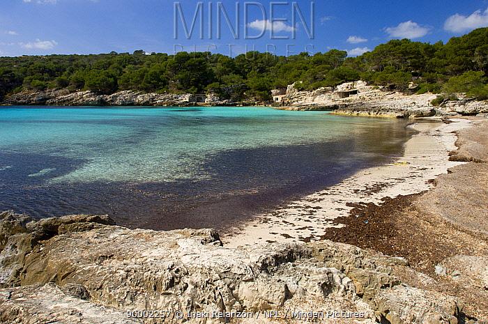 Beach and coast at Cala Turqueta, Turqueta Beach, Menorca Island, Baleares Islands, Spain  -  Inaki Relanzon/ npl