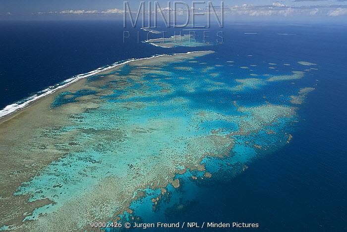 Aerial view of the Great Barrier Reef Agincourt Reefs, off Port Douglas, Queensland  -  Jurgen Freund/ npl