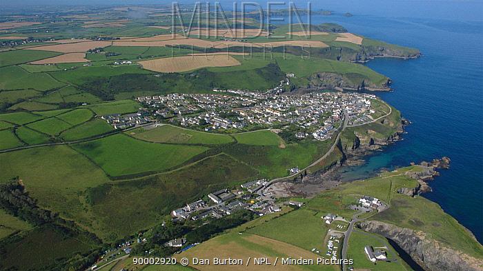 Aerial view of Port Isaac, Cornwall, England, 2007  -  Dan Burton/ npl