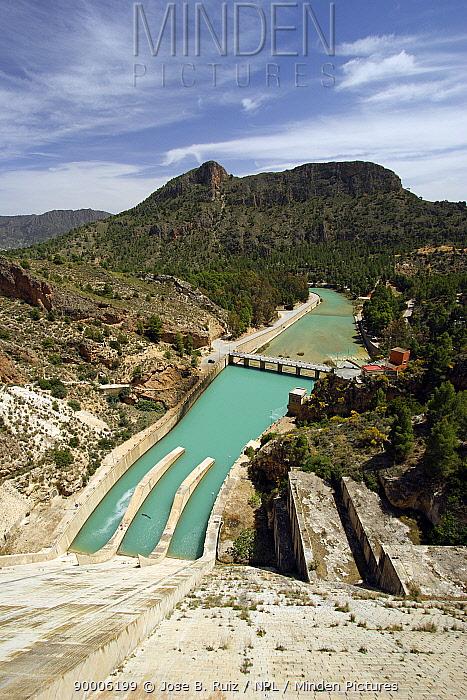 View from Cenajo dam, Cenajo reservoir, Murcia, Spain  -  Jose B. Ruiz/ npl