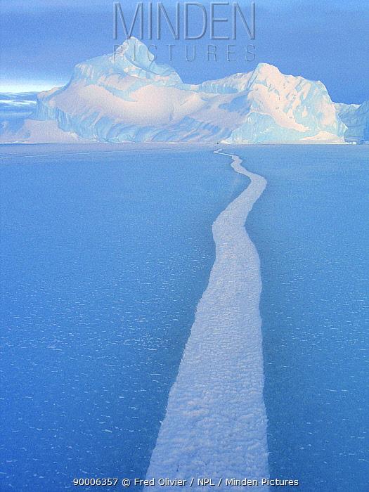 Tide crack in ice, Antarctica  -  Fred Olivier/ npl