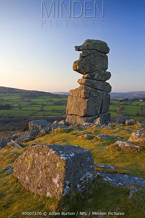 Bowermans Nose granite outcrop, Dartmoor NP, Devon, UK  -  Adam Burton/ npl