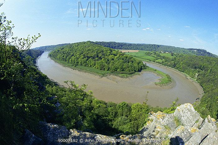 Meander in River Wye, Longhope Reach, Gloucestershire, UK  -  John Downer/ npl