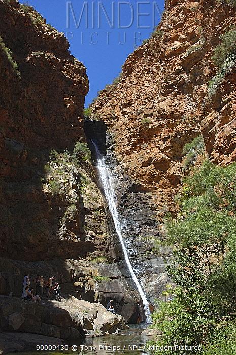 Meeringspoort Waterfall, Little karoo, South Africa  -  Tony Phelps/ npl